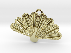 Peacock Fashion Pendant in 18k Gold Plated Brass