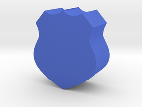 Game Piece, Police Badge in Blue Processed Versatile Plastic