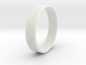 0101 Lissajous Figure Ring (Size9.5, 19.4mm) #002 in White Natural Versatile Plastic
