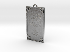 Game of Thrones - Targaryen Pendant in Natural Silver