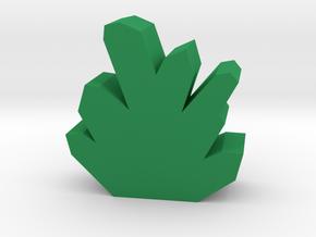 Game Piece, Crystal Token in Green Processed Versatile Plastic