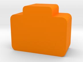 Briefcase Token in Orange Processed Versatile Plastic