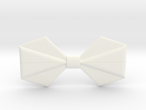 Origami Bow Tie in White Strong & Flexible Polished