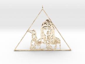 Katy Perry  Pendant (Dark Horse) 3D Jewellery   in 14K Yellow Gold