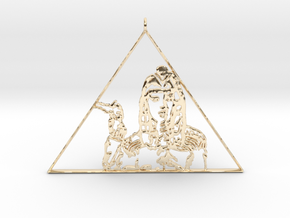 Katy Perry  Pendant (Dark Horse) 3D Jewellery   in 14K Yellow Gold