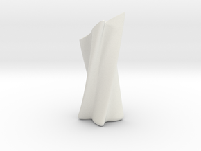 Slanted Shuriken Vase in White Natural Versatile Plastic