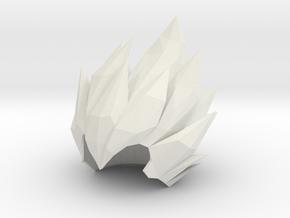 Custom Vegeta Inspired Hair for Lego in White Natural Versatile Plastic