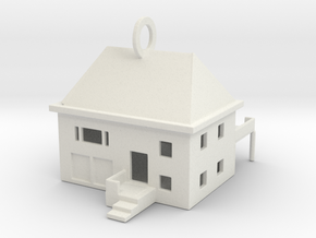 House KeyChain in White Natural Versatile Plastic