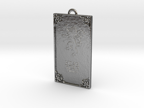 Game of Thrones - Lannister Pendant in Polished Silver