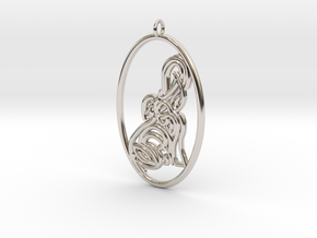 Earring / Pendant - Elephant  in Rhodium Plated Brass