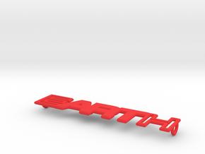 Earth - Art Pendant - 30mm in Red Processed Versatile Plastic