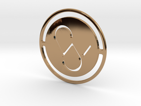 Pendant Monogram SW in Polished Brass