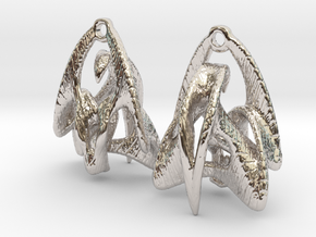 Duality Earrings - 20mm in Rhodium Plated Brass