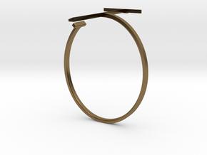 a r c h i t e c t s series - Bracelet T-Square in Polished Bronze