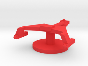 Starship K Token in Red Processed Versatile Plastic