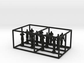 1/144 Standing Observers (Entente) in Black Natural Versatile Plastic