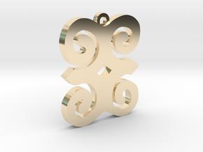Dwennimmen Pendant in 14k Gold Plated Brass