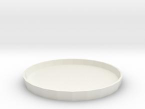 Circular Tray 1:6 in White Strong & Flexible