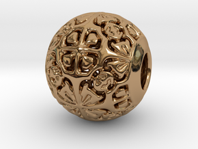 PA CharmV1D14SE537 in Polished Brass