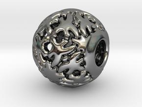 PA CharmV1D14SE83 in Fine Detail Polished Silver