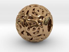 PA CharmV1D14SE81 in Polished Brass