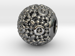 PA CharmV1D14SE76 in Fine Detail Polished Silver