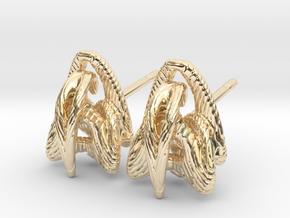 Duality - Stud Earrings in 14K Yellow Gold