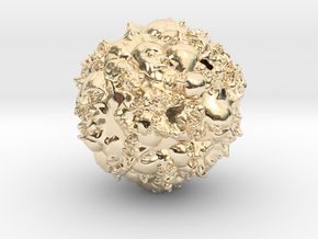 Earth 2500 AD in 14K Yellow Gold