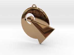IDIC pendant (Star Trek) in Polished Brass