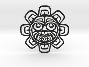 Northwest Design Sun Mask Drink Coaster in Black Strong & Flexible