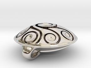Handpan Instrument Pendant v5 in Platinum