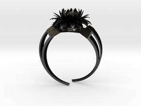 Aster Ring Stl in Matte Black Steel
