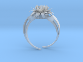 Aster Ring Stl in Smooth Fine Detail Plastic
