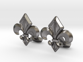 Gothic Cufflinks in Polished Nickel Steel