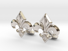 Gothic Cufflinks in Rhodium Plated Brass