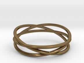 ASNY Tri Swirl Bracelet in Polished Bronze