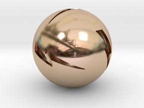 Lightning Ball! in 14k Rose Gold Plated Brass