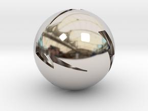 Lightning Ball! in Rhodium Plated Brass