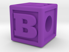 "Name Pieces; Letter ""B"" in Purple Processed Versatile Plastic"