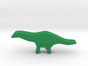 Dino Meeple, Apatosaurus in Green Strong & Flexible Polished