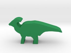 Dino Meeple Parasaurolophus in Green Strong & Flexible Polished