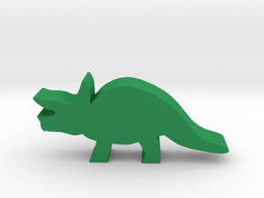 Dino Meeple, Triceratops in Green Strong & Flexible Polished