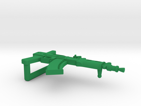Ak74U Belt Buckle  in Green Processed Versatile Plastic