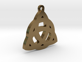 Celtic Trinity Knot Pendant in Polished Bronze