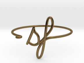 SF Wire Bracelet (San Francisco) in Polished Bronze