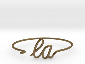 LA Wire Bracelet (Los Angeles) in Natural Bronze
