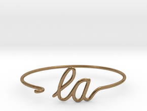 LA Wire Bracelet (Los Angeles) in Natural Brass