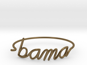 BAMA Wire Bracelet (Alabama) in Polished Bronze