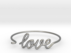 Love Wire Bracelet in Natural Silver