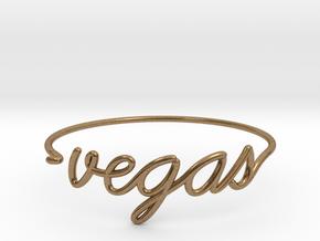 VEGAS Wire Bracelet (Las Vegas) in Natural Brass